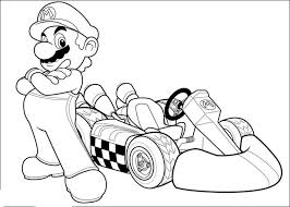 Print Download Mario Kart Coloring Pages Kidscolouringpages