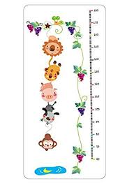 Pig Growth Chart Amazon Com Removable Cartoon Animal Zoo Growth Chart Lion
