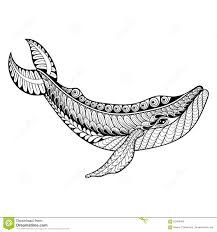 Small Picture Zentangle Vector Whale For Adult Anti Stress Coloring Pages Orn