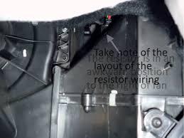 Replace VW Polo Heater Fan Ballast Resistor - YouTube