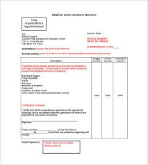 Construction Invoice Template Fascinating Subcontractors Invoice Template Denryoku