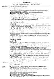 Revenue Specialist Resume Samples Velvet Jobs