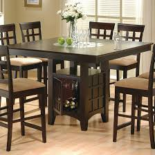 coaster home furnishings 9 piece counter height storage dining table w lazy susan chair set
