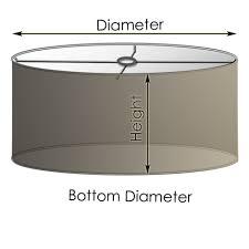 classic round drum lampshade