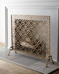 Unique fireplace screens Horchow Lexington Singlepanel Fireplace Screen Horchow Fireplace Screens Fireplace Mantels Fireplace Accessories Horchow