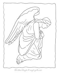 Small Picture Angel Drawings to Color Free Angel Coloring Sheets of Drawings of