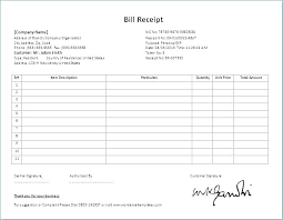Ms Word Invoice Template Doc From New Cash Receipt Format In Rent
