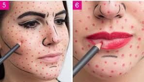 add some red dots black lines and you re literally a work of art cosmo magazine has all the deets and some other great last minute makeup based costumes