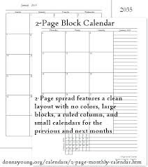 Free Calendars Printable Best 2 Page Images On Calendar Template