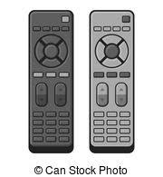 tv remote clipart. tv remote control set on white background. vector tv clipart