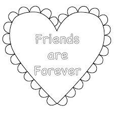 Small Picture Heart Friends are Forever Coloring Page Valentines Day