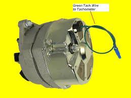 mercruiser alternator inboard engines components new alternator 105 amp delco marine mercruiser 1 wire tachometer tach wire