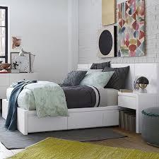 Storage Bed Headboard White west elm