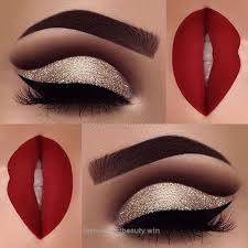 excellent red matte lips and gold glitter eye makeup 2018 ladystyle the post red matte