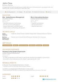 Resume For Internship Sample Image Chemical Engineering