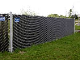 black chain link fence with privacy slats. Modren Link And Black Chain Link Fence With Privacy Slats O
