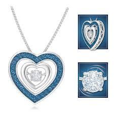 dancing heart diamond pendant danbury