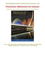 Mechanism Design Erdman Pdf Pdf Precalculus Mathematics For Calculus Epub James Stewart