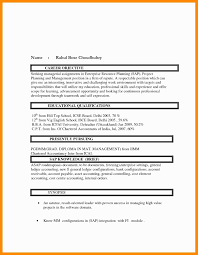 Chartered Accountant Resume Format New Nice Sample Resume Format For