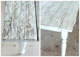 rustic white dining table. Perfect Table Distressed Dining Table White Finishing Steps  Satori Design For Living Room Throughout Rustic White Dining Table