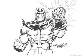 Avengers Infinity War Coloring Pages Thanos By Neal Adams Free