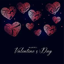 Wallpapers in ultra hd 4k 3840x2160, 1920x1080 high definition resolutions. Free Vector Dark Valentines Day Background With Decorative Floral Hearts