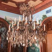 old world brown beaded crystal chandelier