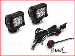 motorcycle universal 18w cree led spot driving lights complete image 1