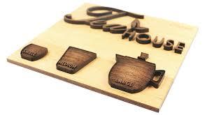 tea house wooden sign