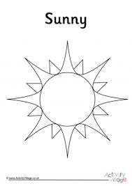 The my weather book coloring page. Weather Colouring Pages
