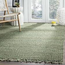 safavieh natural fiber coastal hand woven jute green area rug 6 x 6