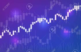 Free Stock Market Charts And Graphs Vector Background With Stock Market Candlesticks Chart Forex