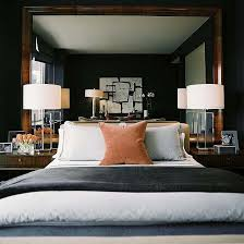Mirrored headboards.