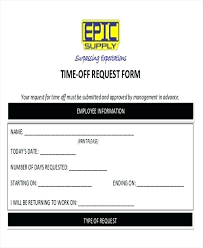 Days Off Request Form Template Personal Day Off Request Form Template Juanbruce Co