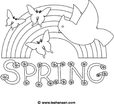 Small Picture Spring Coloring Page Rainbow Bird and Butterfly