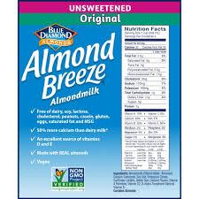 almond breeze almondmilk unsweetened original 32 oz pack of 12 walmart
