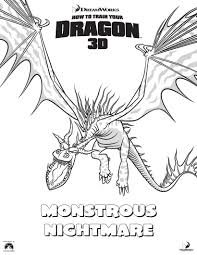 Small Picture Monstrous Nightmare Coloring Pages In How To Train Your Dragon