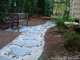 the finished stone walkway