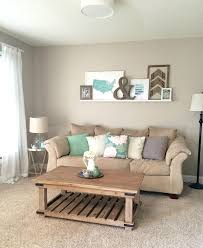 beige living room. 4. Aqua Blue Accents Are Serene But Unexpected Beige Living Room O