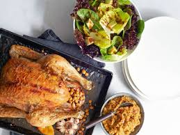 Roast Chicken With Chickpea Stuffing And Big Green Salad