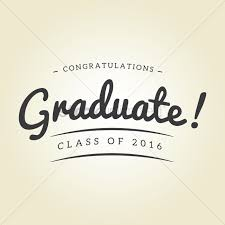 congratulations to graduate congratulations graduate class of 2016 design vector image