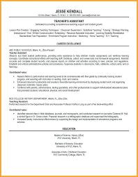 Sample Resume Objectives For Teachers sample resume for substitute teacher topshoppingnetwork 66