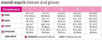 Esprit Size Chart Us Medi Mondi Esprit Full Finger Compression Gloves