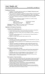 Sample Resume For Lvn Free Resume Templates