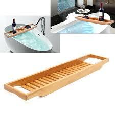tub tray caddy bathroom bamboo bath shelf wine holder tub tray over bathtub rack support chrome tub tray