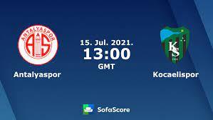 Antalyaspor - Kocaelispor Live ticker, H2H und Aufstellungen