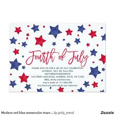 4th of july invite wording lovely 4th july party invitations lovely modern red blue watercolor of