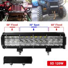 Light Bar 5d Us 26 85 39 Off 120w 12 Inch Led Car Work Light Bar 5d Spot Flood Combo Vehicle Off Road Driving Lamp For Auto Offroad Suv Truck Suv Boat Atv In