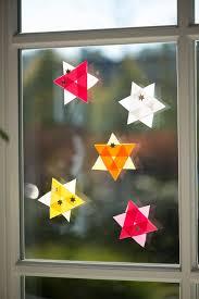 Weihnachtssterne Aus Einem Dreieck Selbstgemacht Deko