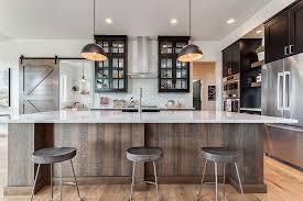 Modern farmhouse kitchen design Horseshoe Shaped The Spruce Gorgeous Modern Farmhouse Kitchens